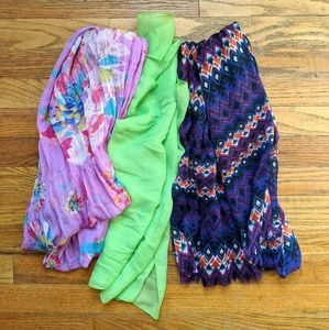 ☀️ 3 light weight scarves